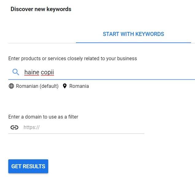 google keyword planner tool cuvinte cheie